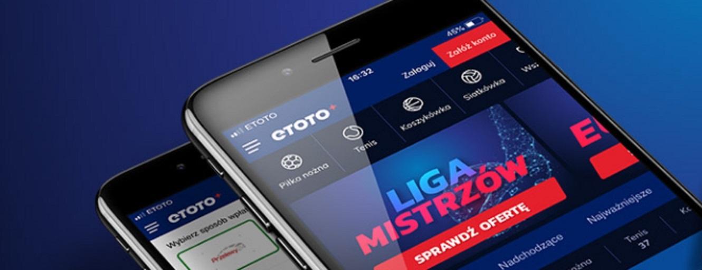 Freebet w aplikacji mobilnej Etoto