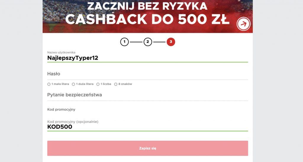 Aktywny kod na bonus w Betclic.pl! Wpisujesz i odbierasz 500!