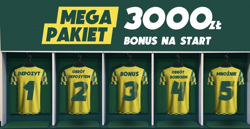 Betfan bonus na start. Premia powitalna 3000 PLN + 50 ekstra!